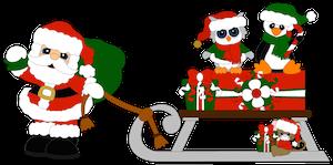 Santa and Friends Sled -2014