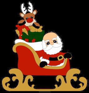 Santa in a Sled - 2014