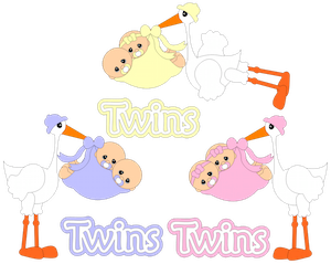 Storks with Twins - 2012