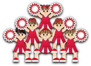 Cheerleader Pyramid - 2011