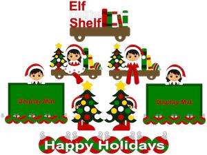 Elf Sitting on a Shelf - 2012