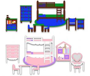 Boy and Girl Bedroom Set - 2012