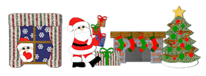 Santa Sneaking Presents - 2011