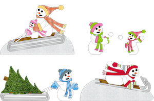 Sledding Snowmen - 2011